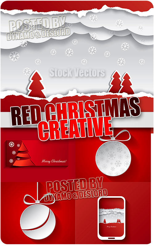 Christmas Red creative - Stock Vectors