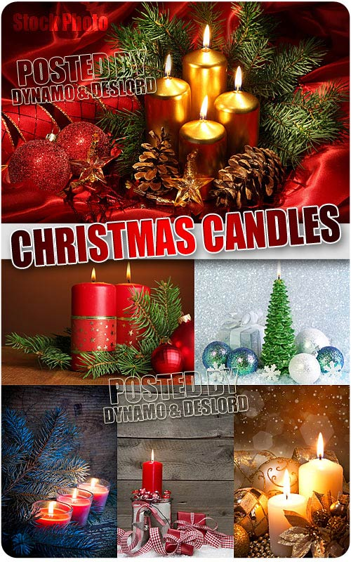Xmas candles - UHQ Stock Photo