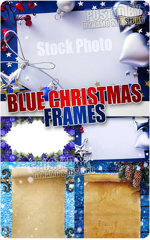 Blue xmas frames - UHQ Stock Photo