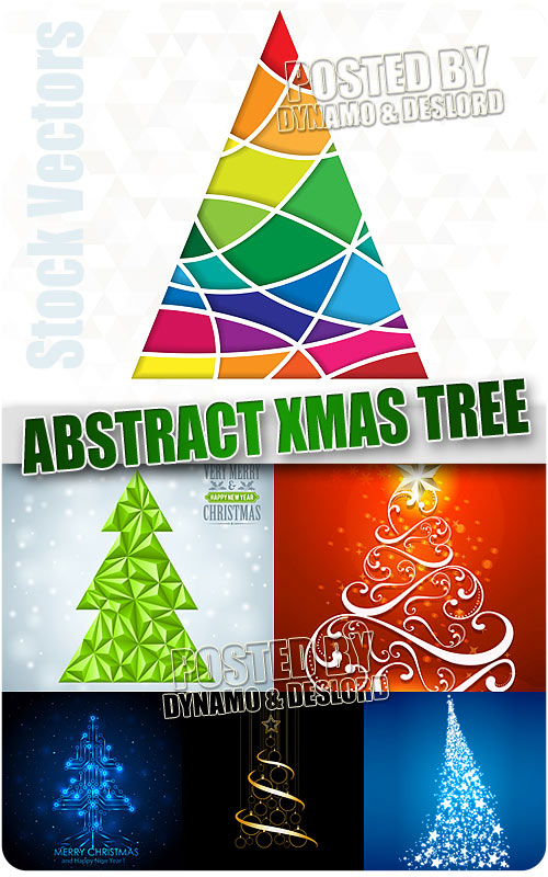 Abstract Xmas Tree - Stock Vectors