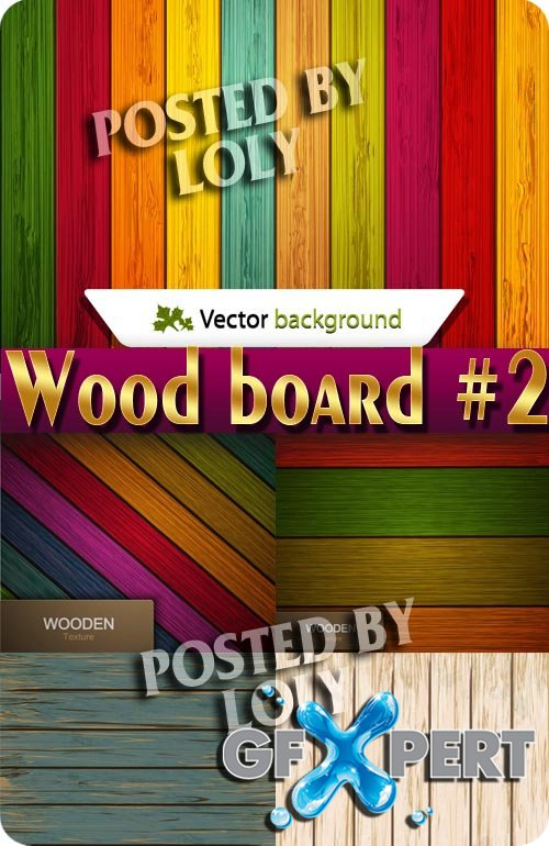 Wooden Backgrounds #2 - Stock Vector