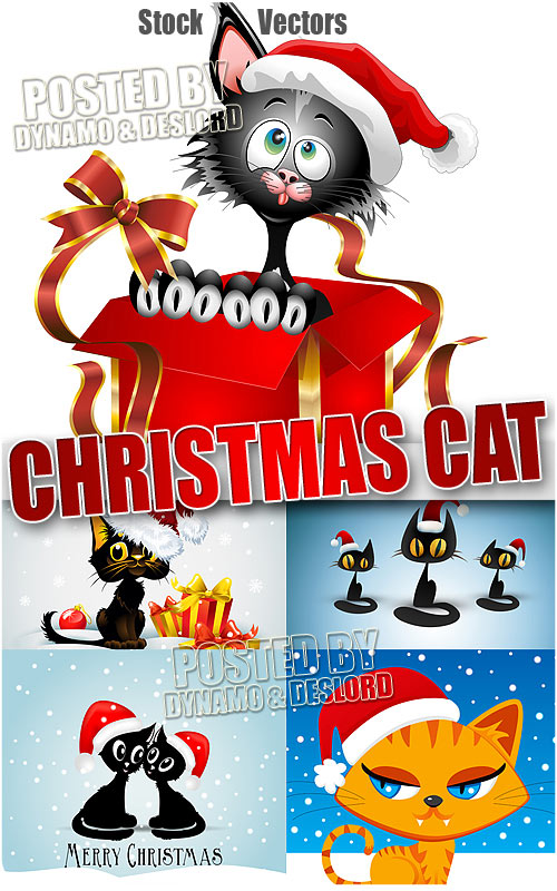 Xmas cat - Stock Vectors