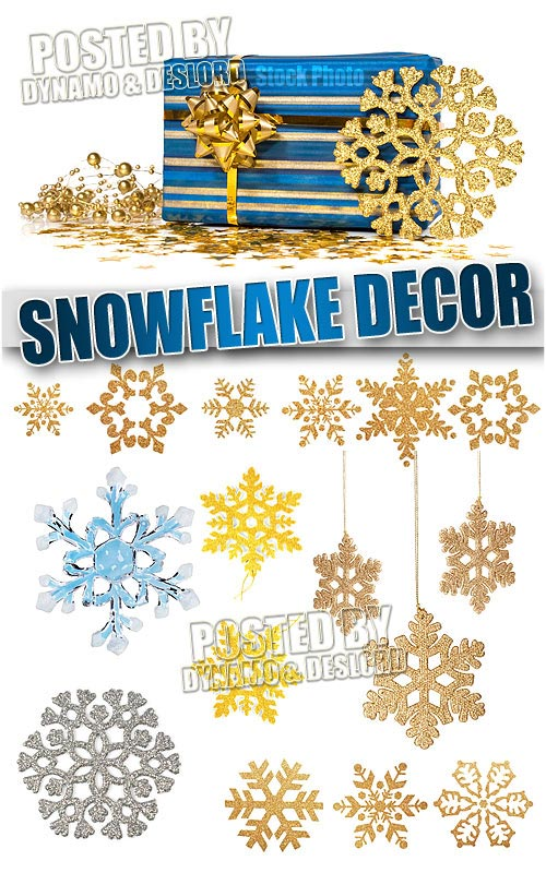 Snowflake decor - UHQ Stock Photo