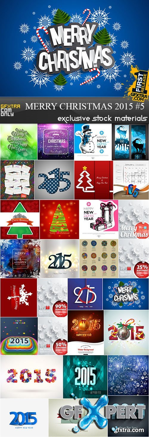 Merry Christmas 2015 #5, 30xEPS