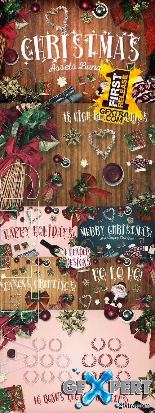 Christmas Assets Bundle - Creativemarket 120645