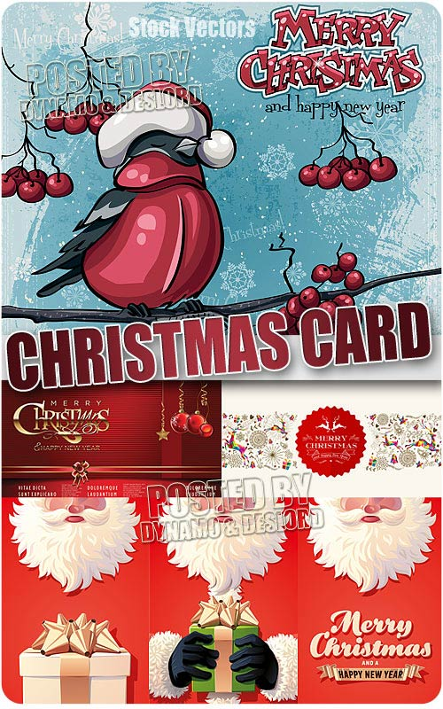 Xmas cards 5 - Stock Vectors