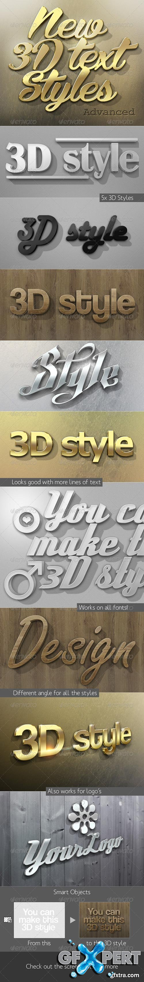 GraphicRiver - New 3D Text Styles Advanced