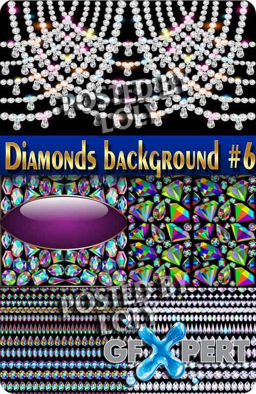 Backgrounds of precious stones and diamonds #6 - Stock Vector