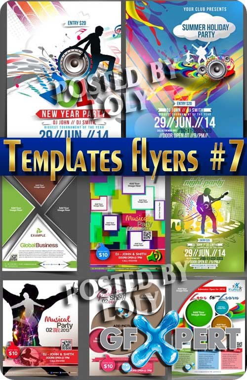 Flyer templates #7 - Stock Vector