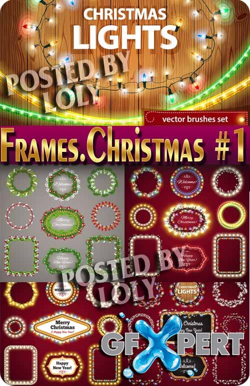 Frames. Christmas 2015 #1 - Stock Vector