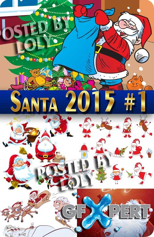 Christmas Santa Claus 2015 #1 - Stock Vector