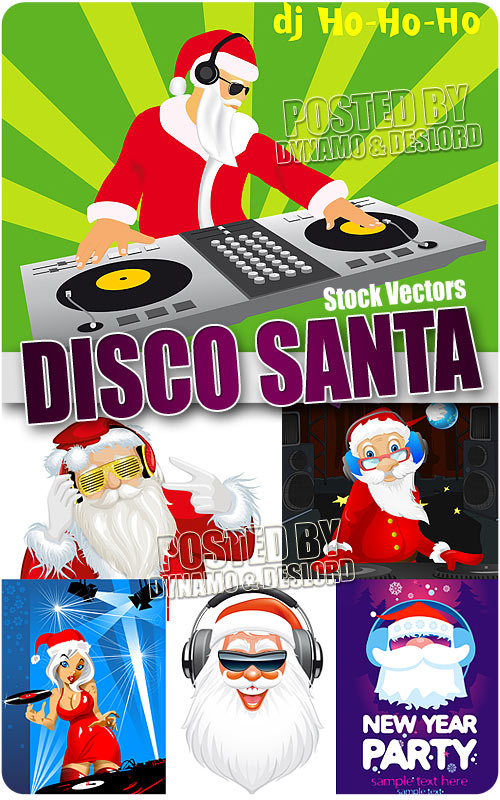Disco santa - Stock Vectors