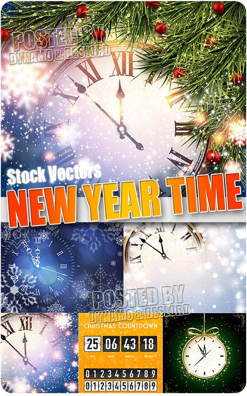 New Year time - Stock Vectors