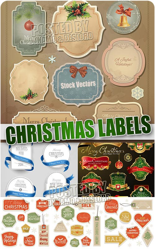 Xmas Lables - Stock Vectors
