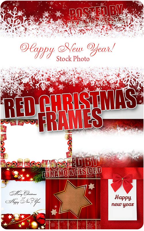 Xmas Red Frames - UHQ Stock Photo