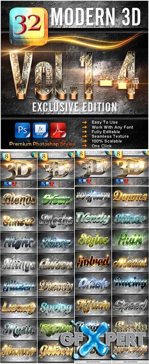 32 Modern 3D_Bundle (Vol.1-4)