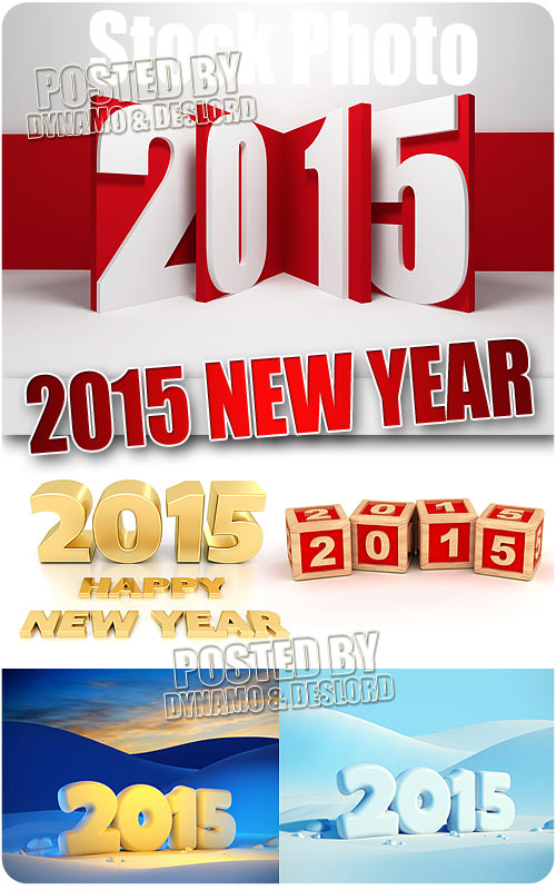 2015 New Year 3D - UHQ Stock Photo