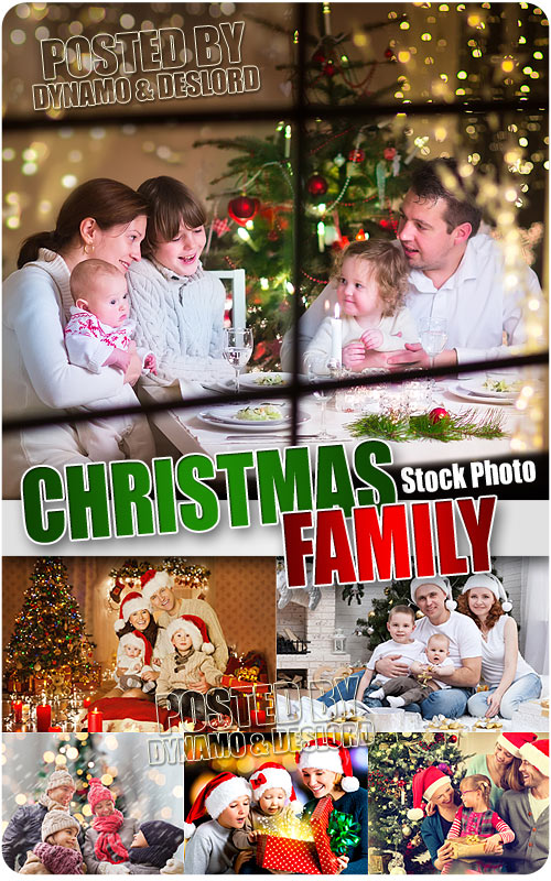 Xmas family - UHQ Stock Photo