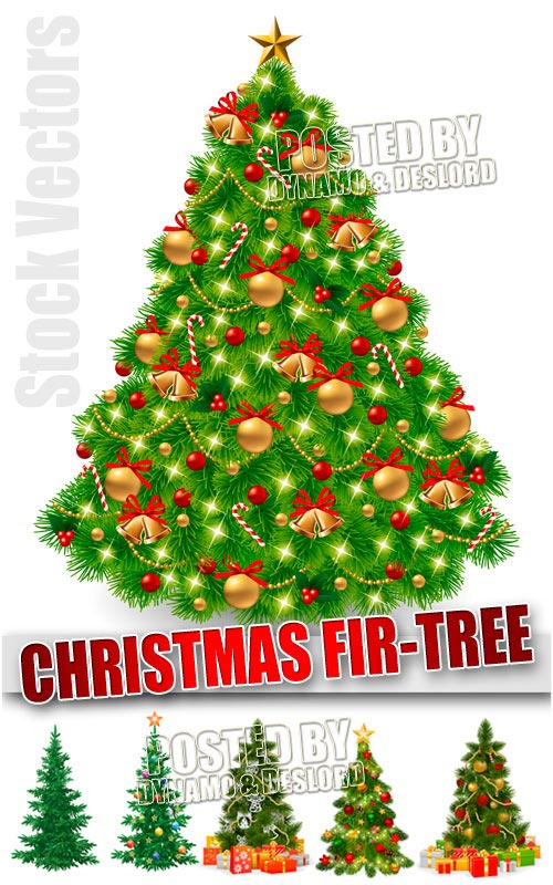 Xmas fir-tree - Stock Vectors