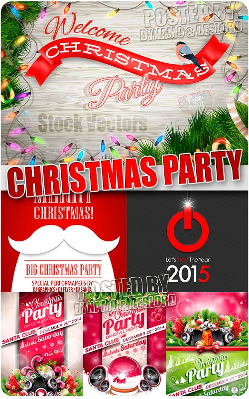 Christmas party - Stock Vectors