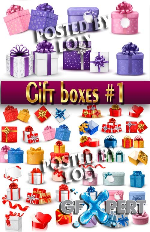 Gift Boxes #1 - Stock Vector