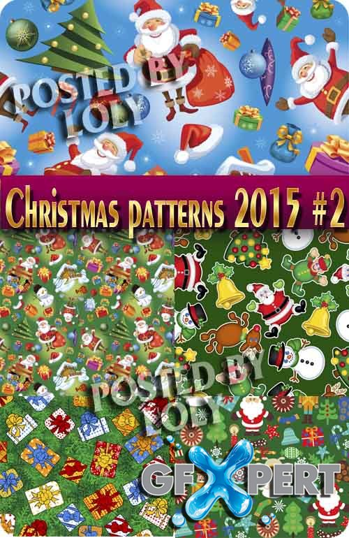 Christmas patterns 2015 #2 - Stock Vector