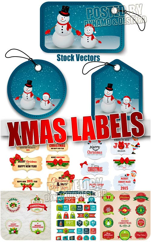 Xmas labels 3 - Stock Vectors