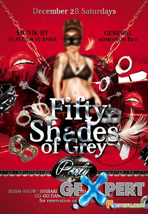 Flyer Template - 50 Shades of Grey Party