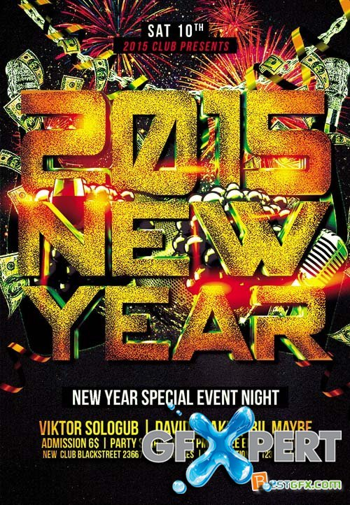 Flyer PSD Template - 2015 New Year