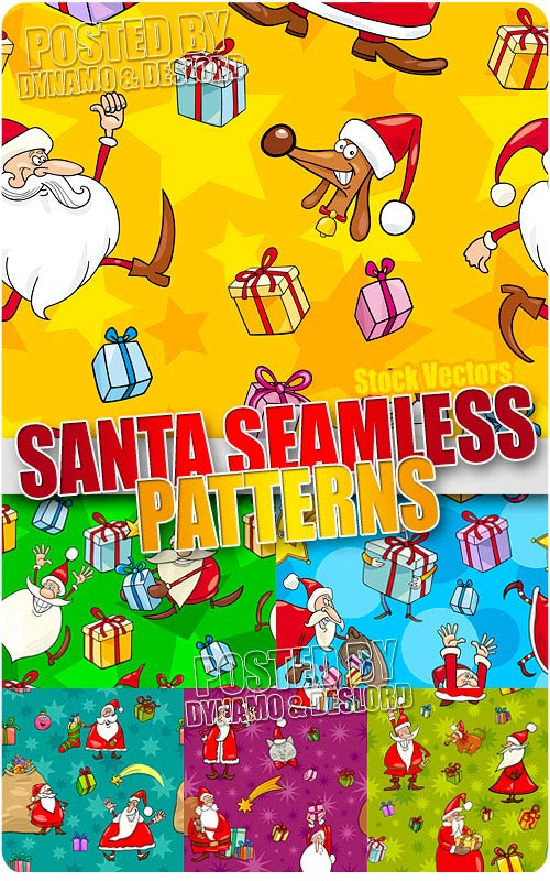 Santa seamless pattern 2 - Stock Vectors