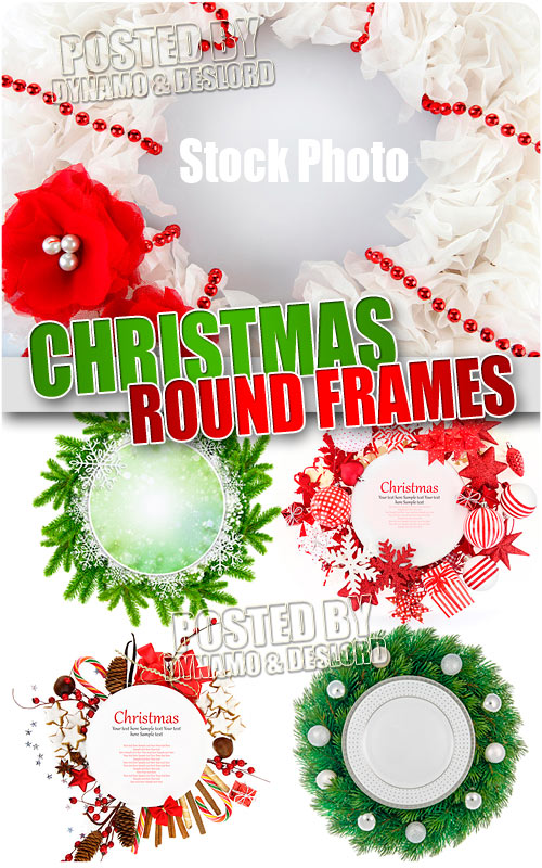 Round xmas frames - UHQ Stock Photo