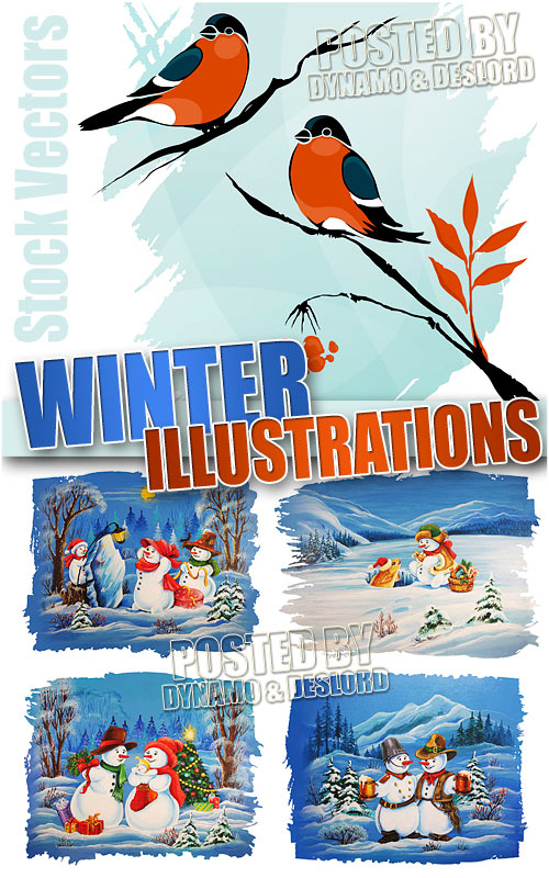 Winter illustrations - Stock Vectors