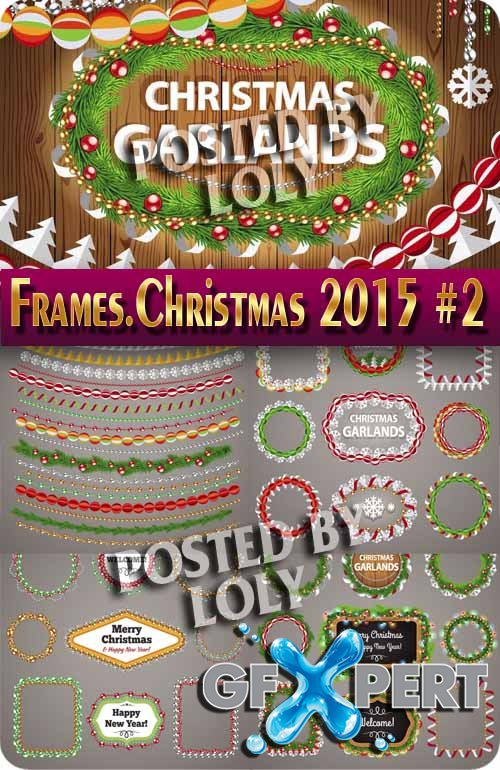 Frames. Christmas 2015 #2 - Stock Vector