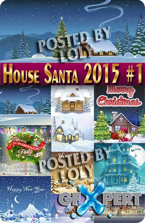 Santa's House #1 - Stock Vector