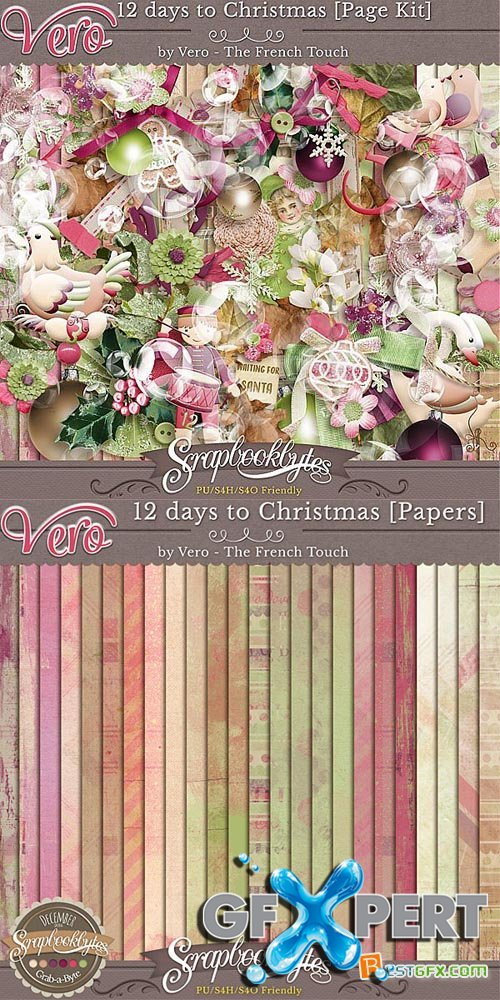 Scrap - 12 Days To Christmas PNG and JPG