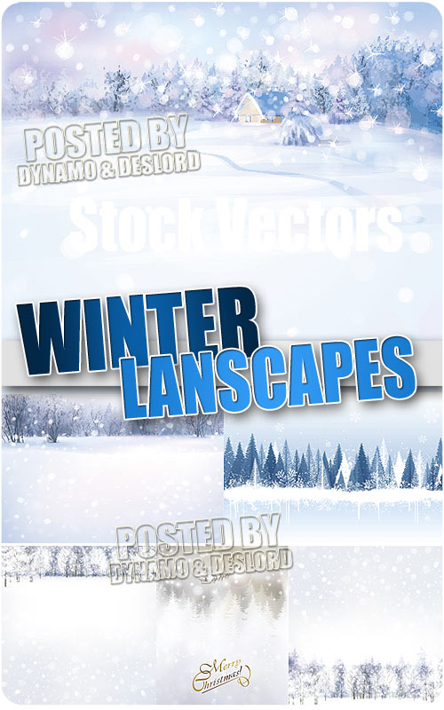 Winter landscapes - Stock Vectors