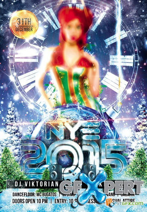 Club Flyer Template - NYE 2015 Party