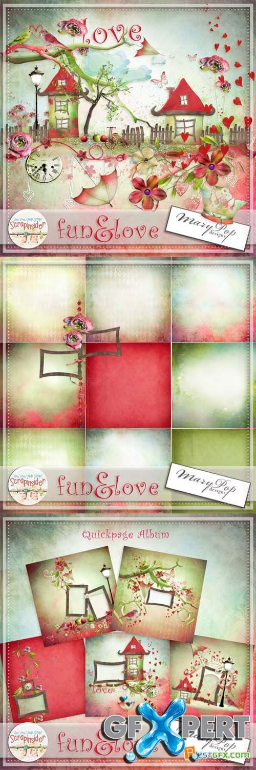 Scrap - Fun & Love PNG and JPG