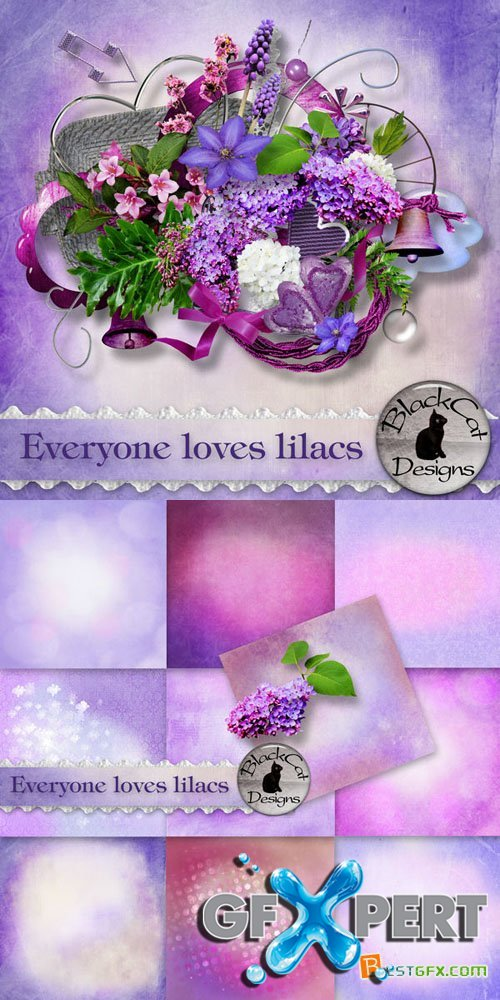 Scrap - Everyone Loves Lilacs PNG and JPG