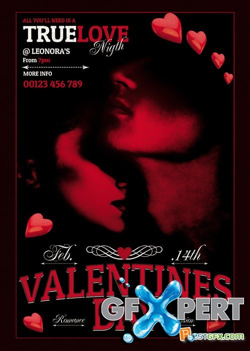 Valentines Day PSD - Flyer Template