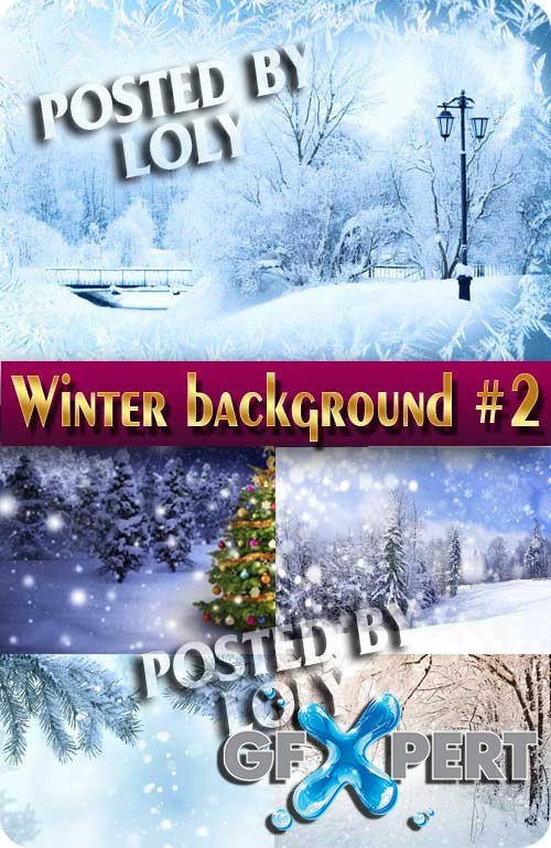 Winter backgrounds 2015 #2 - Stock Photo