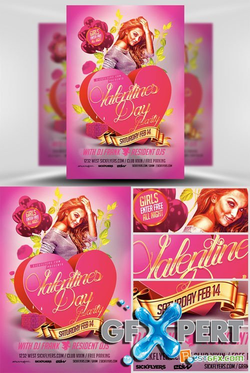 Pink VDAY Flyer Template