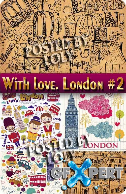 With love from London #2 - Stock Vector