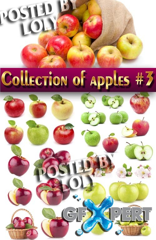 Food. Mega Collection. Apples #3 - Stock Photo
