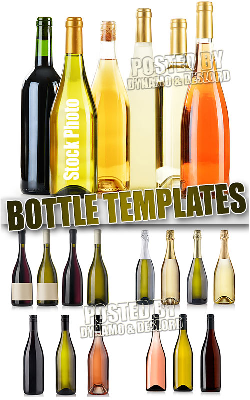 Bottle templates - UHQ Stock Photo