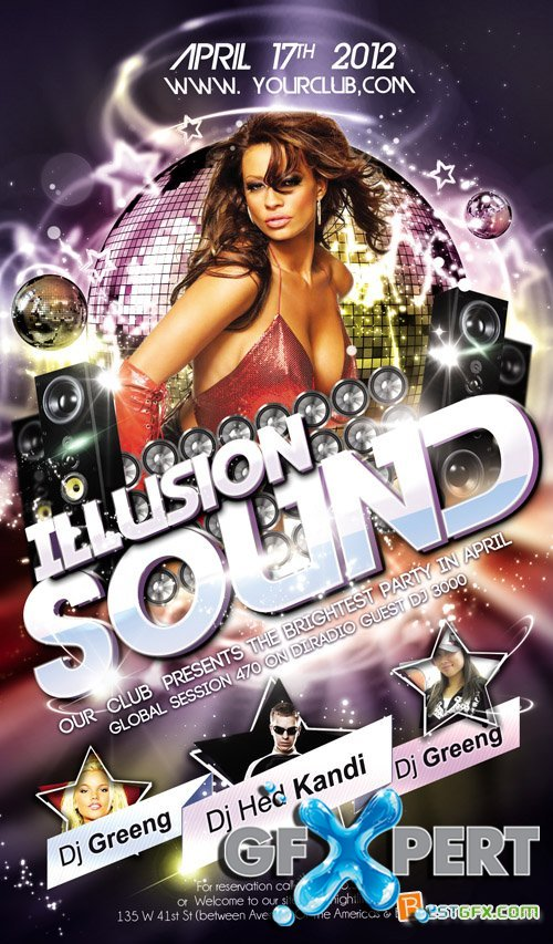 Flyer PSD Template - Illusion Sound