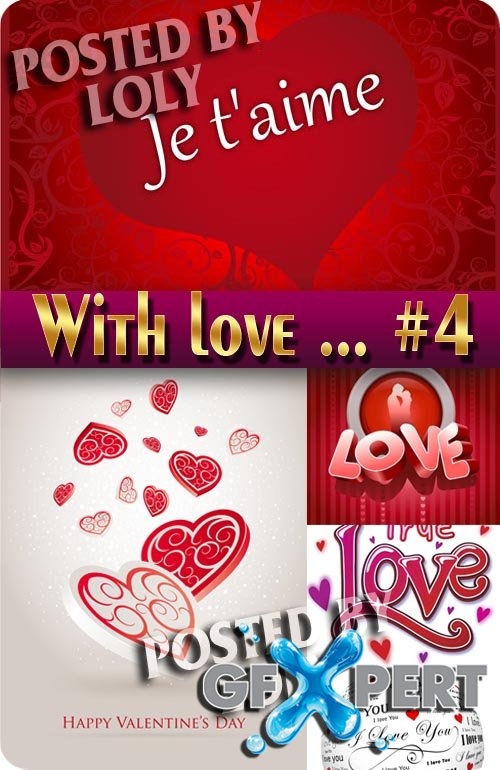 With Love... #4 - Stock Vector