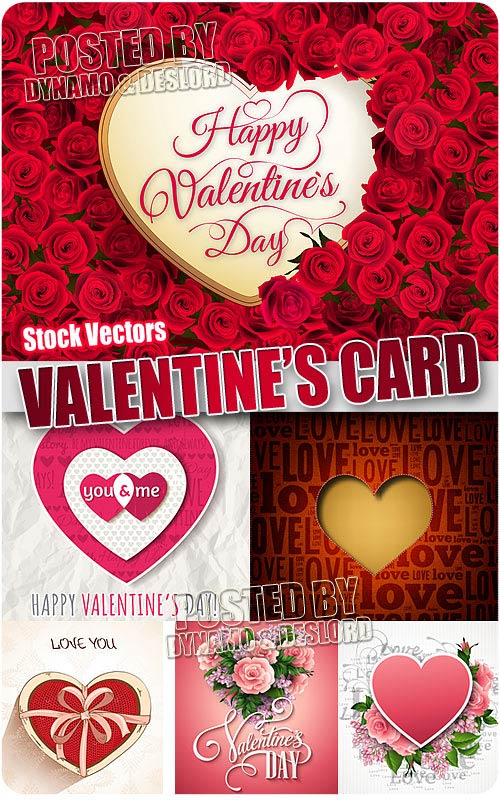 Valentine card 2 - Stock Vectors