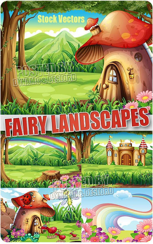Fairy landscapes - Stock Vectors