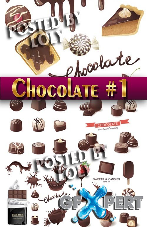 Mega Collection. Chocolate #1 - Stock Vector